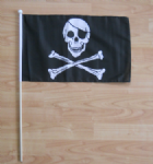 Pirate Skull and Crossbones Hand Flag - Large.